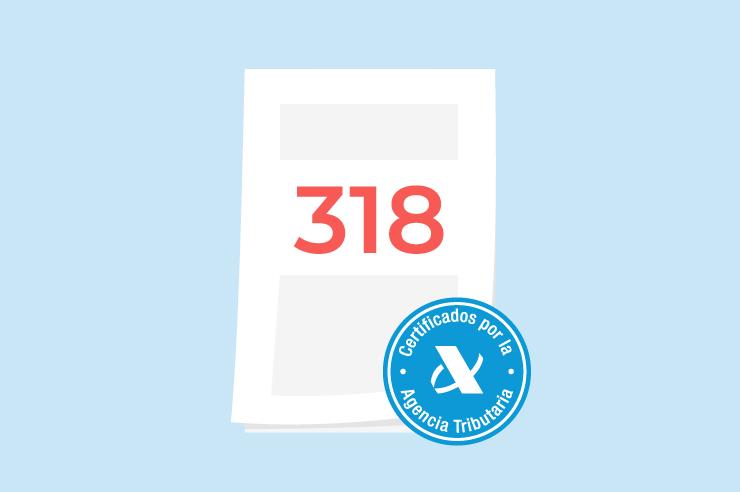 modelo 318 de la declaración del IVA