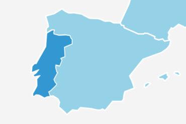 mapa de la península ibérica IVA
